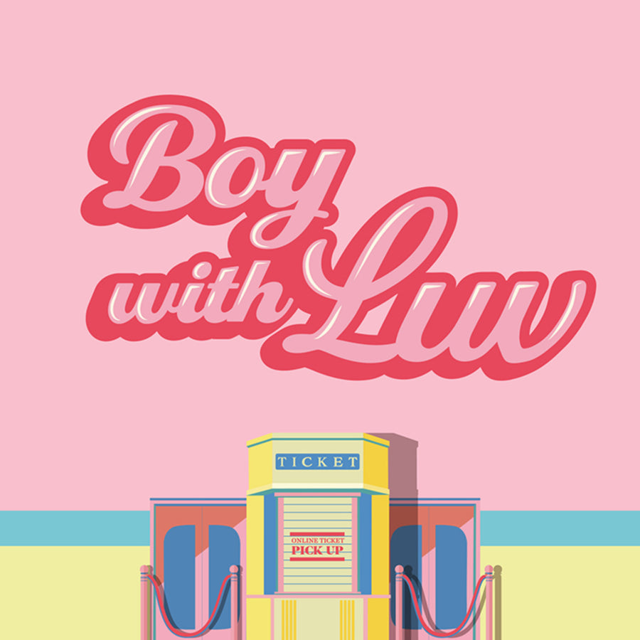 BTS Boy with Luv A5 Notebook _Pink