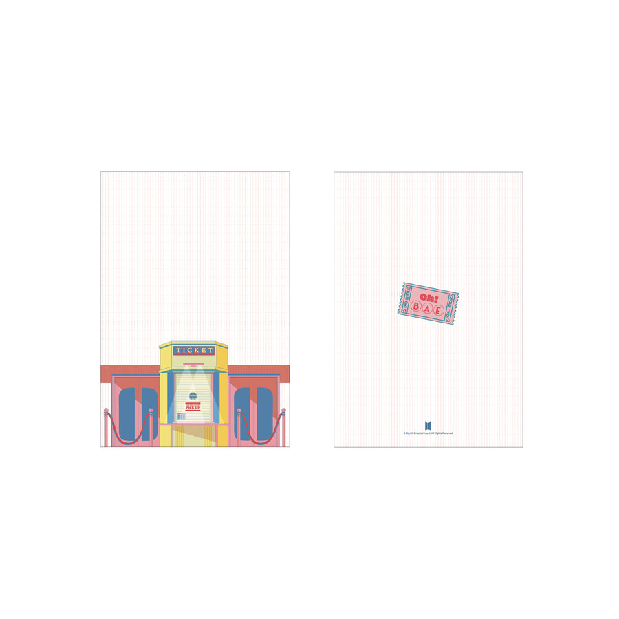 BTS Boy with Luv Diary(Sticker set) _Pink