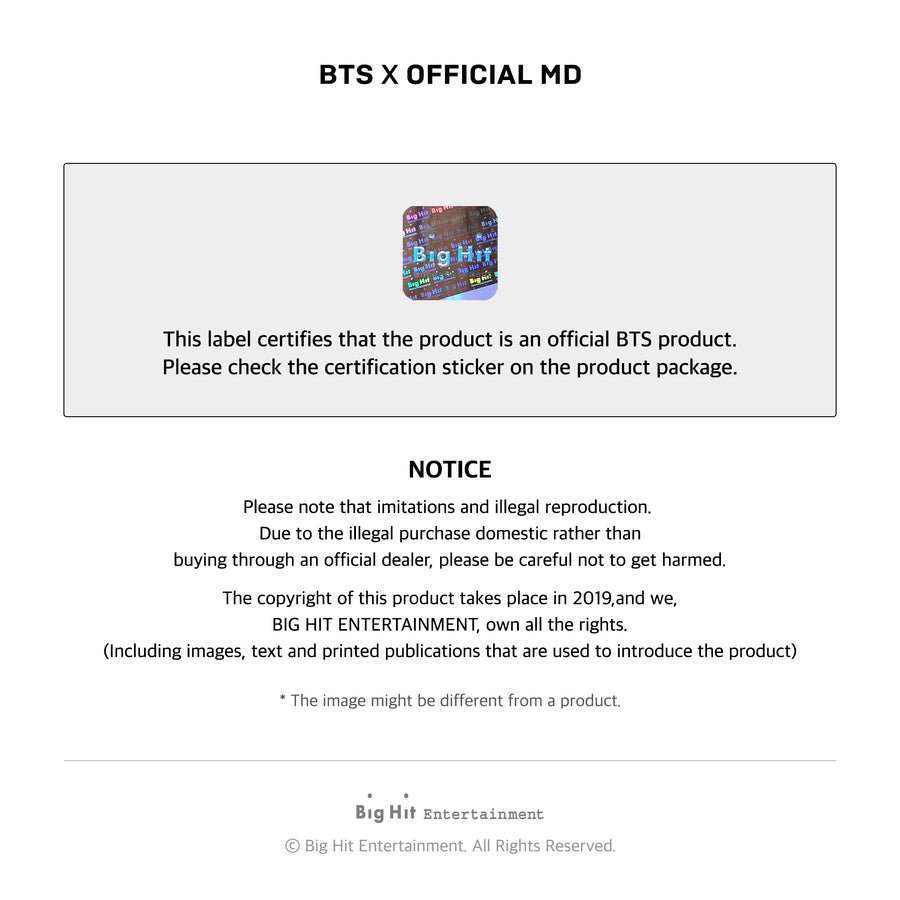 BTS Boy with Luv L Holder _Set
