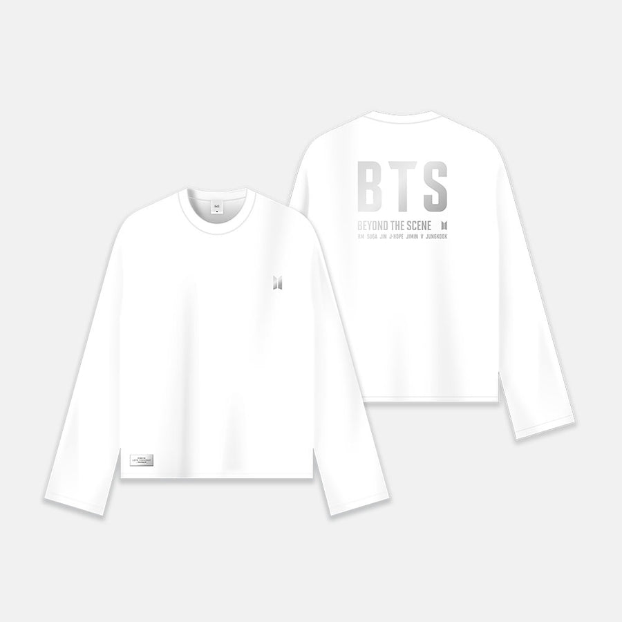 LONG SLEEVE T-SHIRT [BTS LOGO : WHITE]