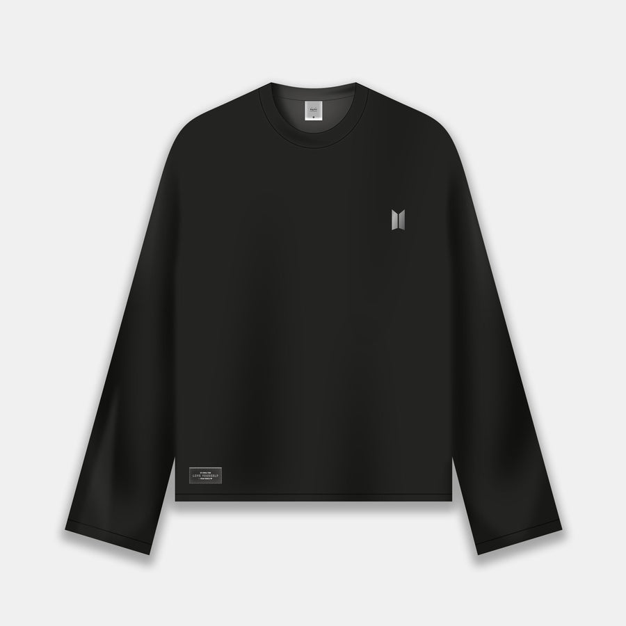 LONG SLEEVE T-SHIRT [BTS LOGO : BLACK]