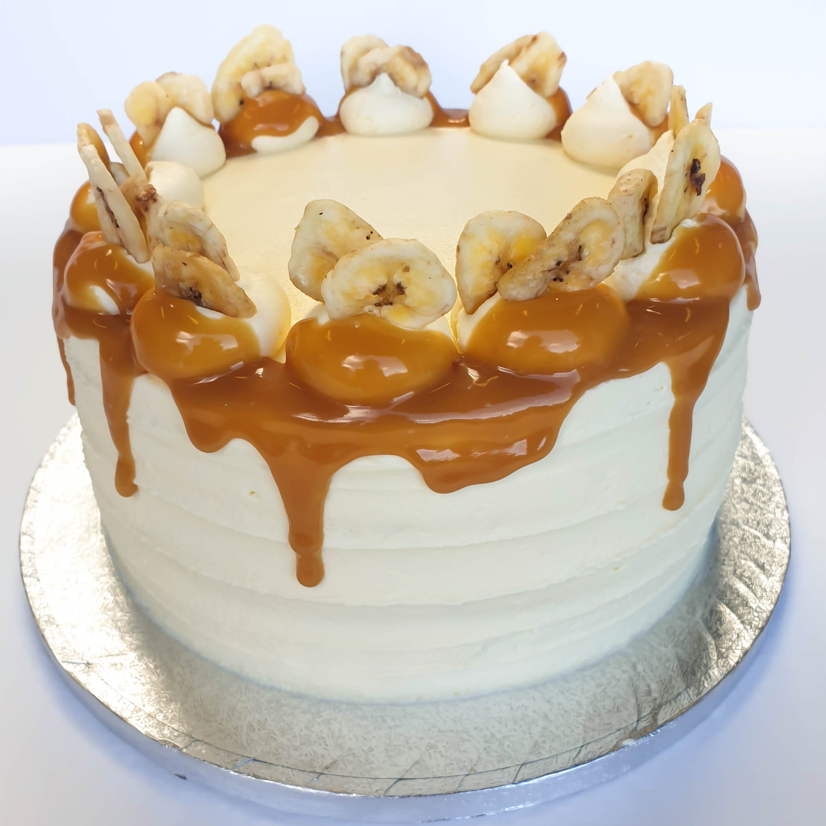 Banana & Caramel Celebration Cake