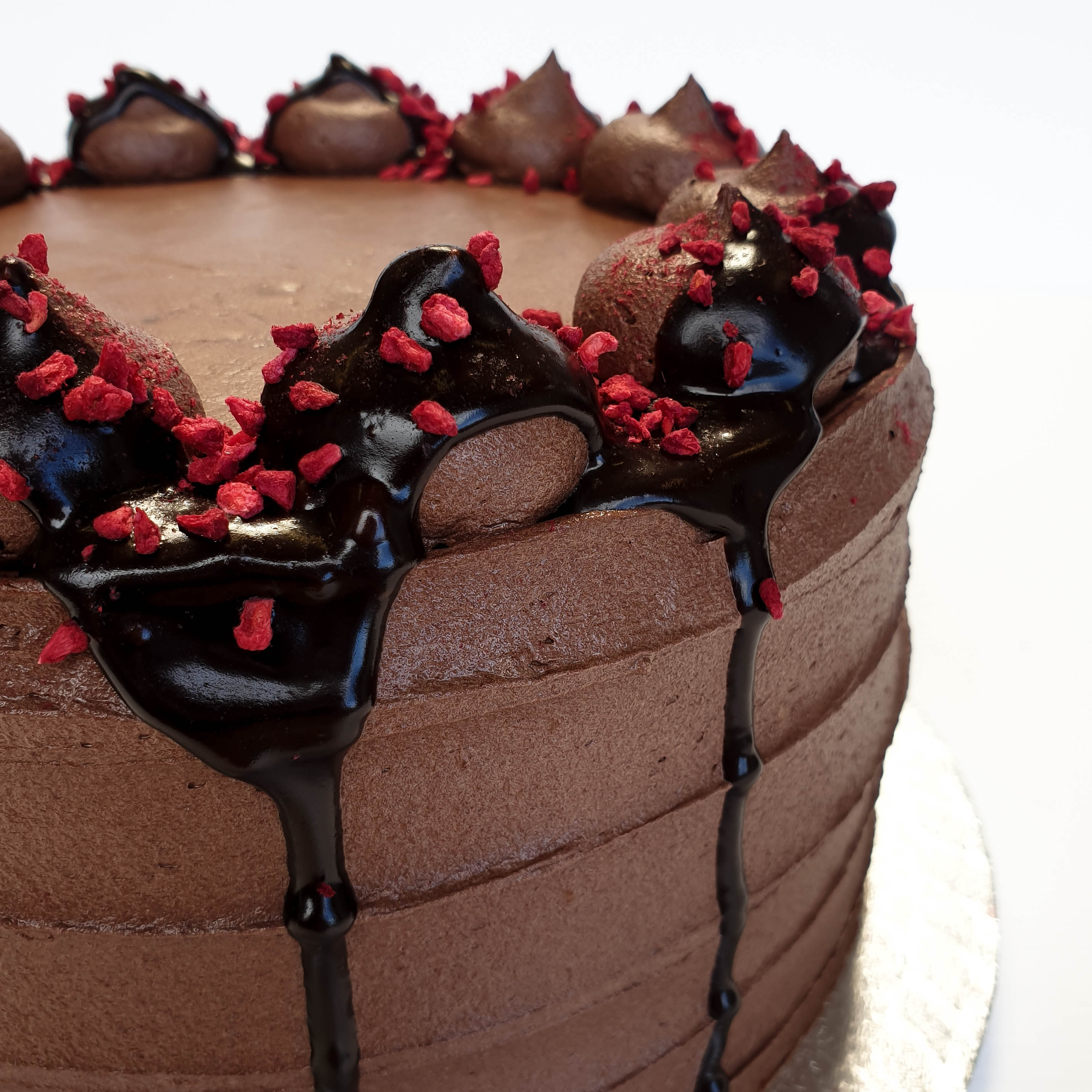 Made Without Gluten Chocolate Raspberry Cake