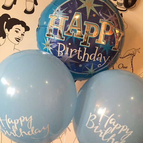 Bunch of Blue Birthday Balloons