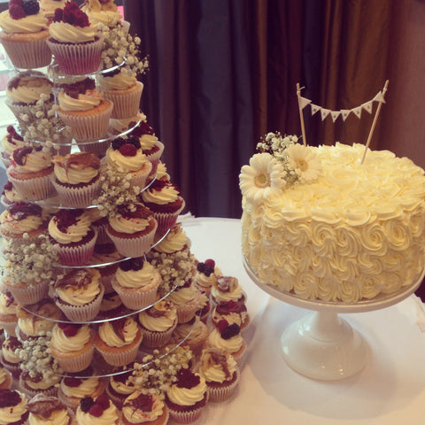 Mimi's Towered Wedding Cupcakes