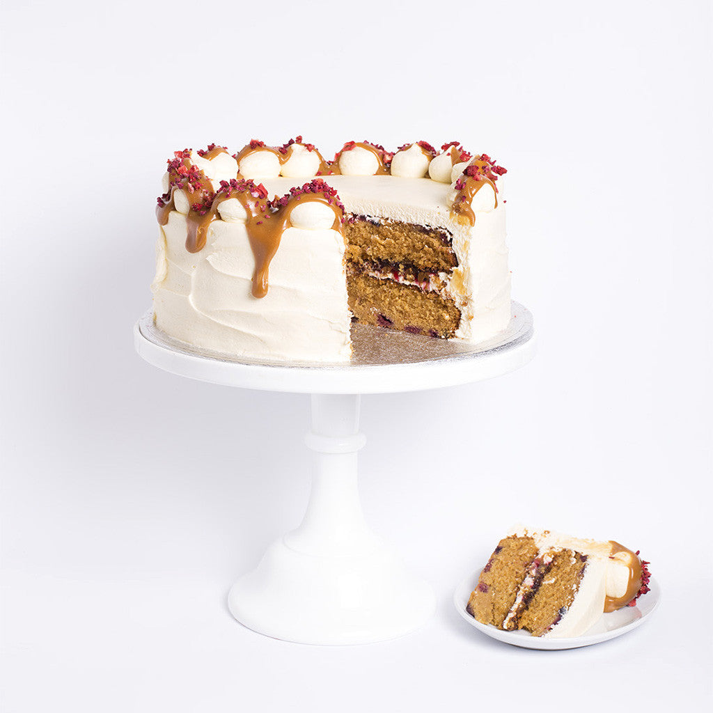 Mixed Berry & Caramel Cake