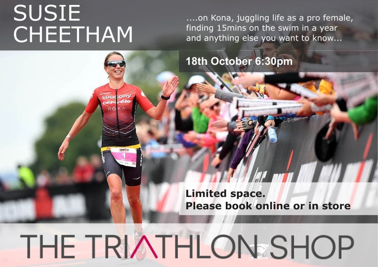 Evening with Susie Cheetham - Pro triathlete