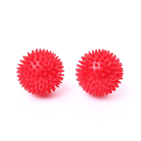 66fit Soft Spiky Massage Balls - 8cm, twin pack