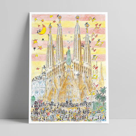 "Poster ""Barcellona"" 50x70cm"