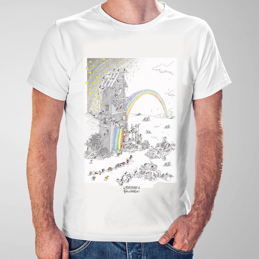 "T-shirt ""Fabbrica dell'arcobaleno"""
