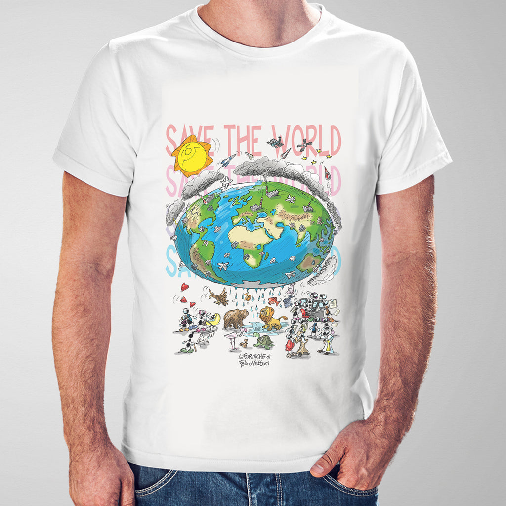 "T-shirt ""Save the world"""