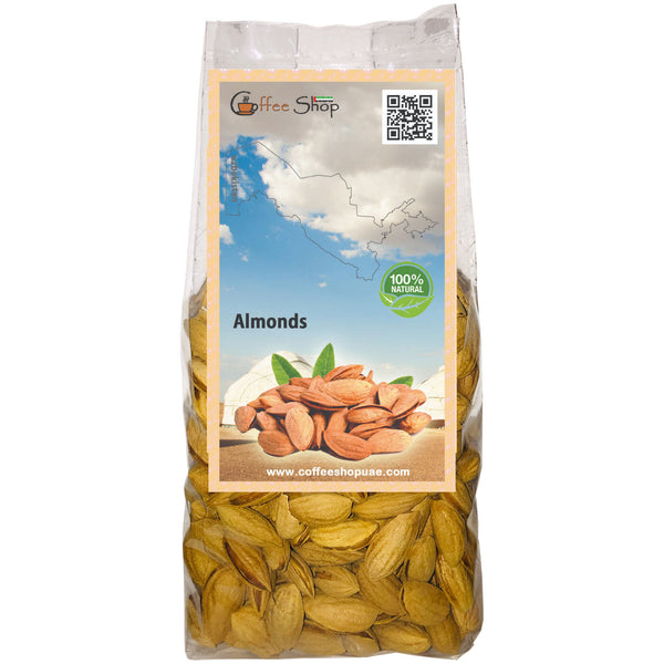 Almonds with Shell, 1 Bag لوز مع القشر