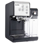 BREVILLE ONE-TOUCH COFFEEHOUSE COFFEE MACHINE (BLACK & CHROME).