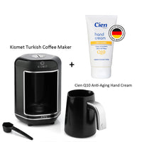 Kismet Turkish coffee maker Chrome + Cien Q10-Hand Cream Anti Ageing