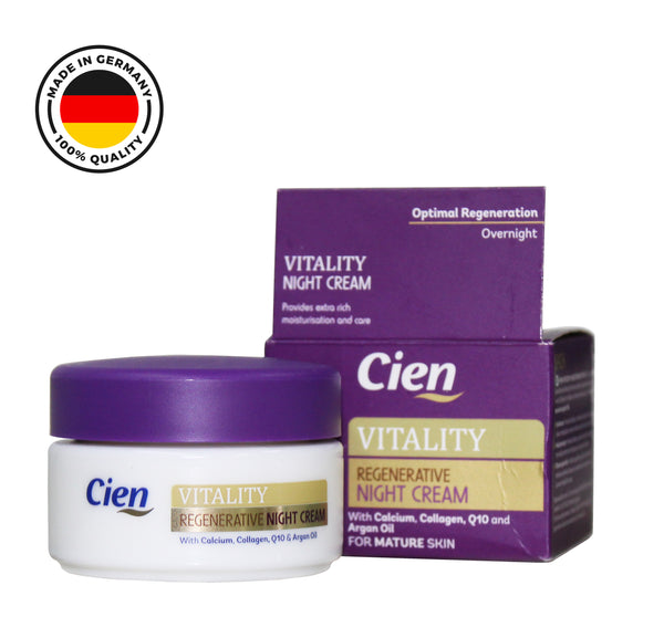 CIEN VITALITY REGENERATIVE NIGHT CREAM WITH CALCIUM,COLLAGEN,Q10 AND ARGAN OIL
