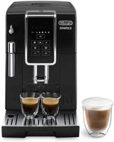 DeLonghi Dinamica ECAM 350.15.B fully automatic coffee machine (1450 watts, digital display, milk frother, favorite drinks at the push of a button, removable brew group, 2-cup function) black