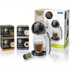 De'Longhi Nescafé Dolce Gusto Mini Me, Single Serve Capsule Coffee Machine Starter Kit, Including 4 Boxes of Starbucks coffee, EDG155.BG, Black & Grey