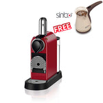 KRUPS NESPRESSO CITIZ XN741540 POD COFFEE MACHINE / CHERRY RED  with free capsules