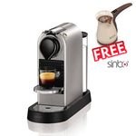 NESPRESSO CITIZ XN741B40 POD COFFEE MACHINE / SILVER BY KRUPS With 19 BAR