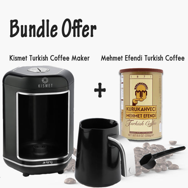 Kismet Turkish coffee maker Black/Silver+ Mehmet Efendi Turkish Coffee