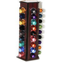 Hand Made Nespresso Coffee Capsules Holder, Wooden Handmade storage, up to 45 pods
