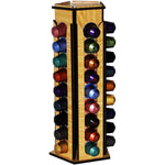 HAND MADE NESPRESSO COFFEE CAPSULES HOLDER, WOODEN HANDMADE STORAGE, UP TO 45 PODS.