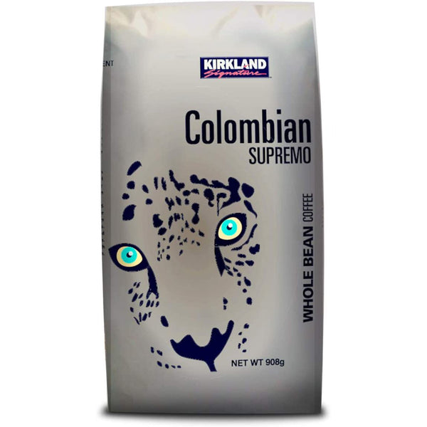 KIRKLAND SIGNATURE COLOMBIAN SUPREMO WHOLE BEAN COFFEE (908G).