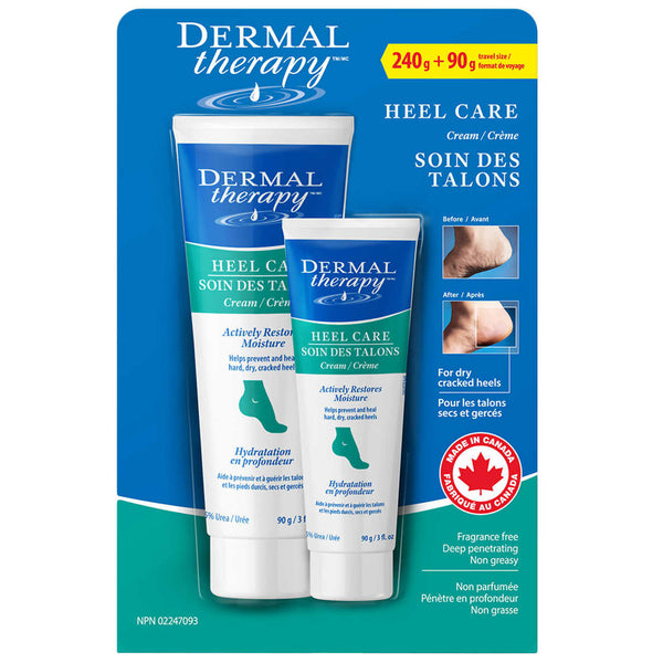 Dermal Therapy Heel Care 240 g + 90 g travel size