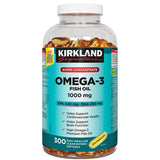 Kirkland Signature Super Concentrate Omega-3 Fish Oil 1000mg, EPA 440/DHA 280, 300 Softgels