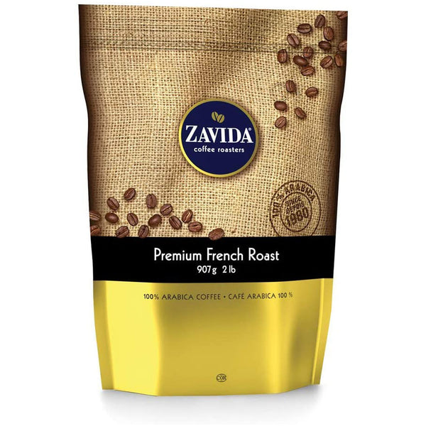 Zavida Whole Medium Roast Coffee Beans (Premium French Roast).