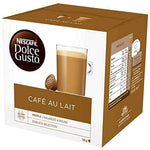 Nescafe Dolce Gusto Coffee Pods, 16 Capsules (16 Servings) (Cafe au lait).