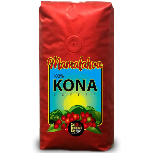 SAN FRANCISCO BAY MAMALAHOA 100% HAWAIIAN KONA WHOLE BEAN COFFEE (454G).