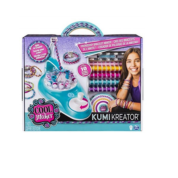 Cool Maker KumiKreator Friendship Bracelet Maker, Quick & Easy Activity Kit for Kids Ages 6 and Up