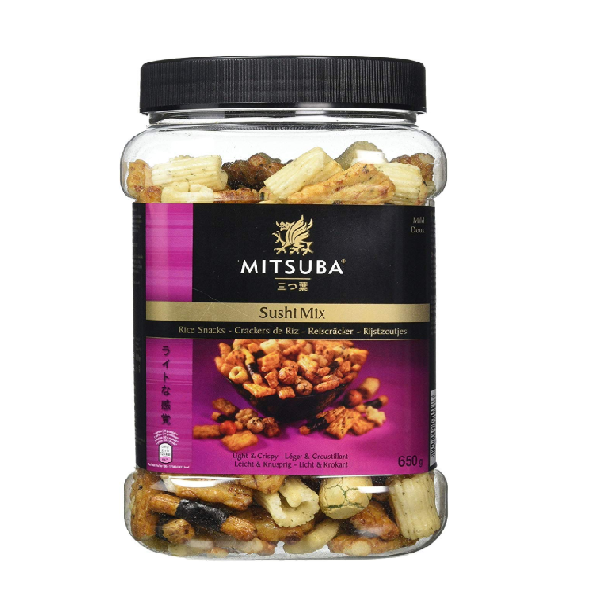 Mitsuba Sushi Mix Crackers Snacks & Coated Peanuts Mild Crispy 650g