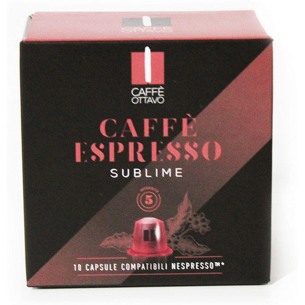Cafe ottavo sublime Compatible Coffee Capsules (pack Of 10)