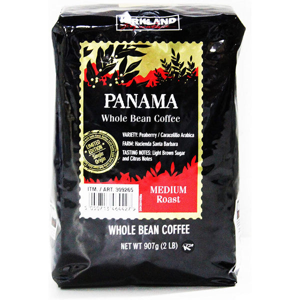 Kirkland Signature Panama Whole Bean Coffee, Medium Roast 907g