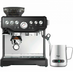 Sage Barista Express Coffee Machine BES875UK with Temp Control Milk Jug, Brushed Stainless Steel