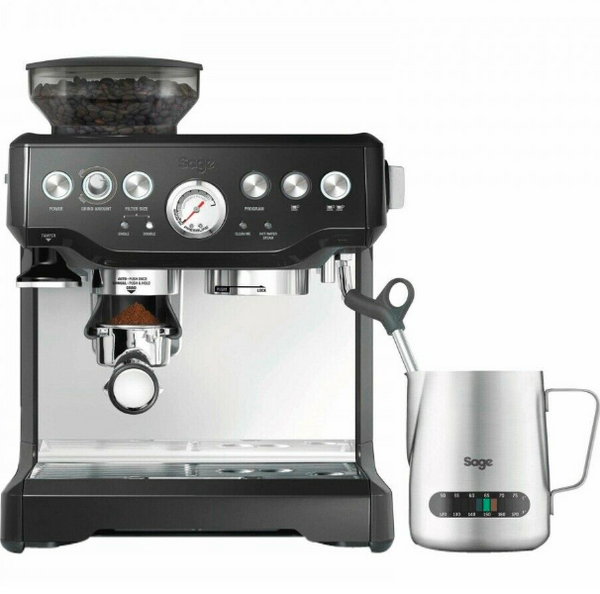 Sage Barista Express Coffee Machine BES875UK with Temp Control Milk Jug, Brushed Stainless Steel + Starbucks French Dark Roast Whole Bean 100% Arabica...