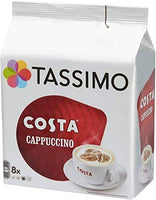 Tassimo Costa Cappuccino Coffee 16 Discs, 8 servings,