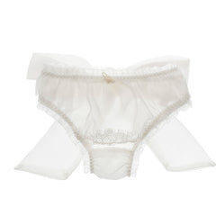 SNOWFLAKE SILK BOW KNICKER