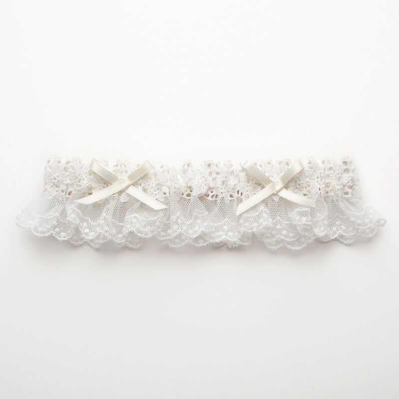 Trousseau-Bridal Garter-Bissous-French Cotton Lace