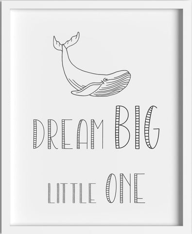 'Dream Big' Print Black