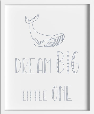 'Dream Big' Print Grey