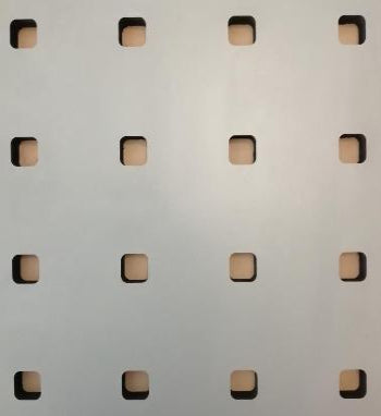 Perforated Square Wood Panel