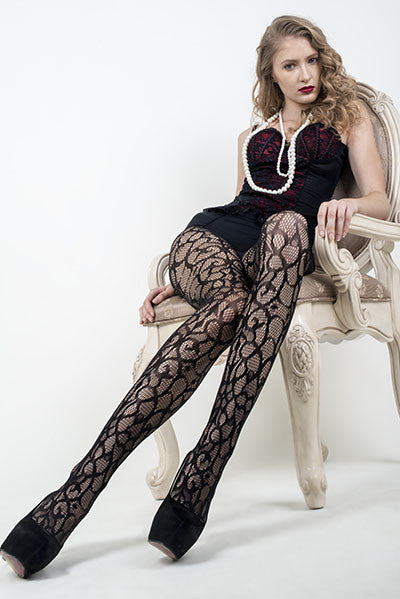 Enchanted Art Deco Fishnet Pantyhose
