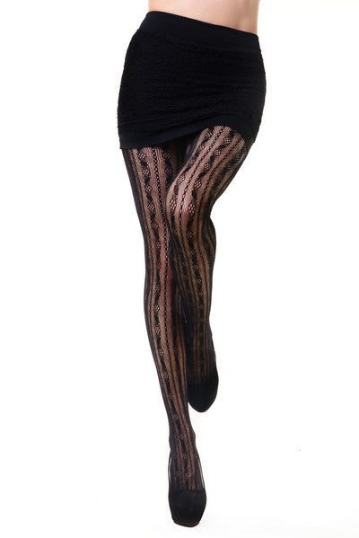 Vertical Stripe Tights
