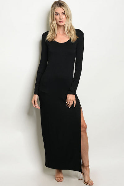 Tessa Jet Black Maxi Dress