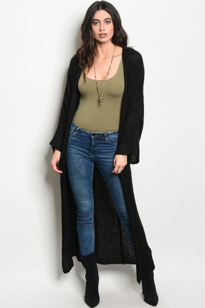 Ebony Long Cardigan Sweater