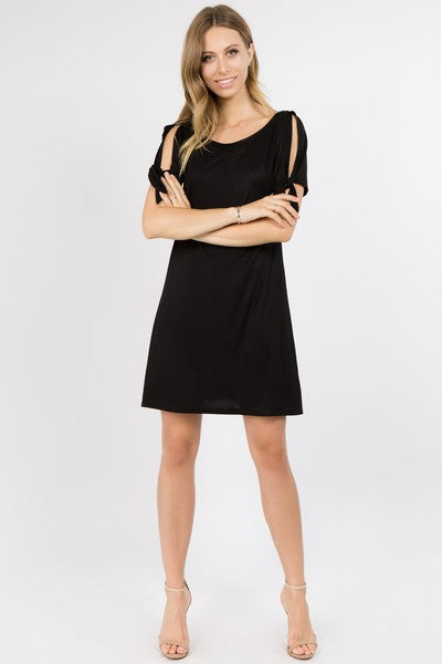 Camille Flare Dress Black