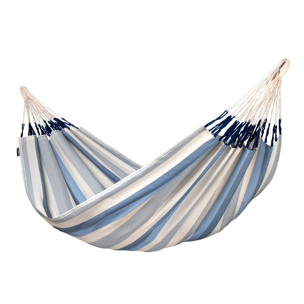 Double Hammock Brisa Sea Salt Light Blue and White
